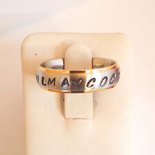 Free Stamps Personalized Name Ring Stainless Steel 6mm