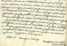 Lettera Autografo Scrittore Erudito Ferdinando Fossi a Papa Pio VI Firenze 1794