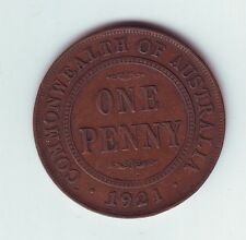 1921 Penny Commonwealth of Australia Coin   N-813