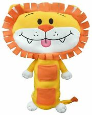 """Seat Pets Lincoln the Lion Car Seat Seatbelt Toy - Yellow/Orange """"As seen on TV"""