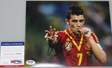 DAVID VILLA Spain 2010 World Cup  Hand Signed 8'x10' Photo 2 + PSA DNA COA
