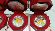 Singapore 2 oz Colour Silver coin with Original Box and COA (Goat and Monkey)
