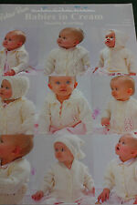"Peter Pan Babies in Cream knitting Pattern book 313 Double knit, 12-36"" chest."