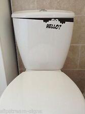 2x Toilet Monster Bathroom waterproof toilet wall stickers Decals Decoration