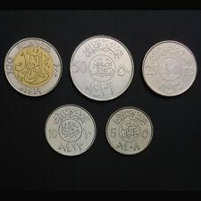 Saudi Arabia Set 5 Coins, 5+10+25+50+100 Fils, 1977-2010, UNC