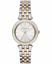 **NEW* LADIES MICHAEL KORS GOLD CRYSTAL 2 -TONE DARCI WATCH MK3405 -RRP£229