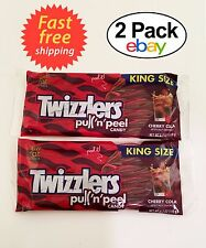 Twizzlers Cherry Cola Pull n Peel Licorice Low Fat Candy King Size Lot 2