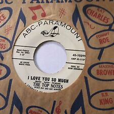 """NORTHERN SOUL PROMO 45/ THE TOP NOTES """"I LOVE YOU SO MUCH""""   HEAR!"""