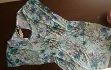 Victoria's Secret floral green short summer day dress medium