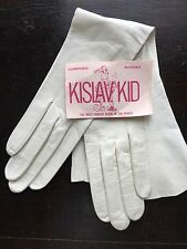 "Kislav Kid 16"" White Leather Gloves 6 1/2"