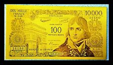 "★★★ BILLET POLYMER "" OR "" DU 100 / 10000 FRANCS NAPOLEON ● DESTOCKAGE ★★ REF1"