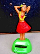 Red Hula Girl Movable DANCING Dashboard DOLL Hawaiian Hawaii  SOLAR POWERED