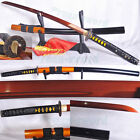 "41""JAPANESE SAMURAI SWORD KATANA red 1095 HIGH CARBON STEEL UNOKUBI-ZUKURI STYLE"