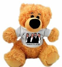 Personalised 12 inch WESTLIFE  FAN TEDDY BEAR Great gift