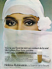 PUBLICITE ADVERTISING 055  1979  HELENA RUBINSTEIN  maquillage fond teint SILK F