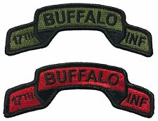 US 17th Infantry Regiment Embroidered Tabs - BUFFALOES - Afghanistan - Iraq