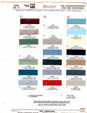 1968 FORD THUNDERBIRD LINCOLN CONTINENTAL 68 PAINT CHIPS DITZLER 6