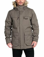 33% OFF! NEW MEN'S JACK WOLFSKIN  WESTPORT WTRPROOF BREATHABLE PARKA, LG, STONE