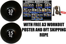FXR SPORTS 25KG SET NO BOUNCE SLAM BALL CROSSFIT MMA FITNESS STRENGTH TRAINING
