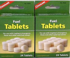 48 HEXAMINE ESBIT FUEL TABLETS FOR EMERGENCY STOVES, FIRE KEEP, WARM, COOK!!