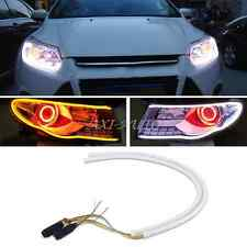 2x 60cm DRL LED Light Strip Tube Switchback White/Amber Sequential Turn Signal