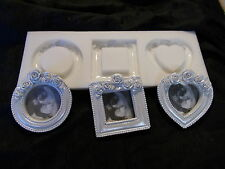 THREE PHOTO FRAMES ROSES SILICONE RUBBER MOULD CRAFTS DIY ETC