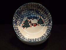 """Set of (8) Tienshan Cabin in the Snow 6 1/2"""" Cereal Bowls"""