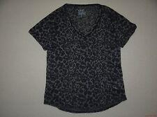 New Vans Womens Jungle Skull V Neck Tee Shirt Tshirt Medium