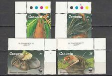 Vanuatu MNH WWF  Set of 4 stamps Bats, Flying Foxes with color dots
