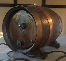 Antique Rare Old Lager Wood Barrel Beer Keg Tube Radio 1930's