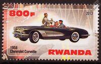 1958 CHEVROLET CORVETTE Car Automobile Mint Stamp (2013)