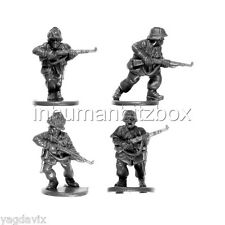 GLG09 RIFLEMAN x4 + BASE M GERMAN GRENADIER LATE FLAMES OF WAR BITZ PSC 15mm
