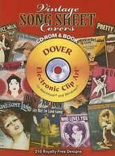 Vintage Song Sheet Covers CD-ROM and Book Dover Electronic Clip Art)