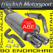 FRIEDRICH MOTORSPORT 70mm EDELSTAHL AUSPUFFANLAGE AUSPUFF AUDI A3+S3 Quattro
