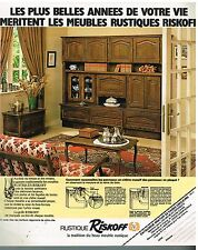Publicité Advertising 1978 Les Meubles Rustique Riskoff