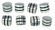 8pc. Chrome Dome Knobs with Speed Rings for Guitar Volume Pots & More! 51-41-02