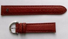 New Maurice Lacroix brown genuine leather strap band 17 mm width with buckle.