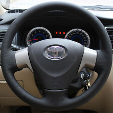Leather Steering Wheel Cover for 2009 2011 2012 2013 Toyota Corolla L XLE Sedan