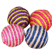 Funny Dog Cat Kitten Pet Teaser Sisal Rope Weave Ball Play Chewing Catch Toy New