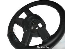 FOR DODGE CALIBER 2006-2012 BLACK REAL LEATHER STEERING WHEEL COVER BEST QUALITY