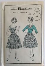 """Vintage Woman's Realm 60s Sun Dress & Jacket Sewing Pattern - Bust 40"""" UNUSED"""