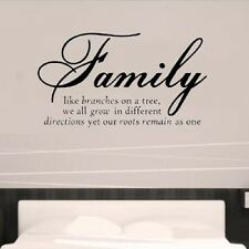 Family Like Branches Removable Vinyl Quote Home Wall Sticker Decal Mural Decor