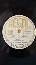 JAZZ 78 rpm RECORD Regal CARROLL GIBBONS Savoy Hotel Orpheans SOLO MIA / TU SOLO