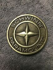 "SCHWINN CLASS PARAMOUNT BICYCLE 1977 SILVER TONE BELT BUCKLE MEASURES 2"" 1/4"