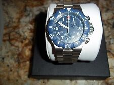 Vintage Swiss Army Summit XLT Chronograph - Blue Face - Stainless Bracelet 24014