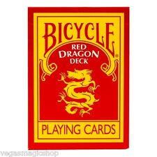 Red Dragon Deck Bicycle Playing Cards Poker Size USPCC - Includes Magic Tricks