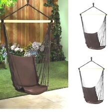 Lot of 2 Hammock Chair Garden Porch Tree Swing Pair - New