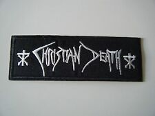 CHRISTIAN DEATH PATCH Embroidered Iron On The Cure Sisters of Mercy Cult NEW