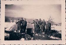FOTO MILITARI REGIO ESERCITO IN BUNKER CON NEVE ANNI '30 7-100
