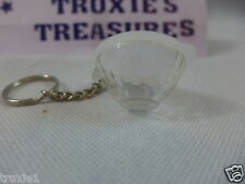 Vintage Tupperware Ice Prisms Bowl Key Chain Clear rare new